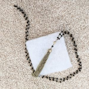 Francesca's Black & Gold Statement Necklace